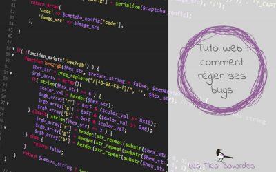 Tuto web : comment régler ses bugs